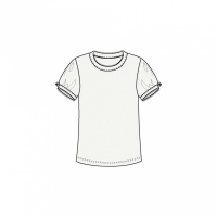 Ditte T-skjorte Hvit