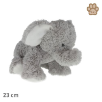 Elefant 23cm Grå