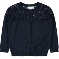 Felock Mini strikket cardigan mønstret Mørk blå