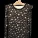 Abbi trøye i ullbambus med blomsterprint Svart