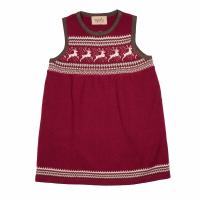 Memini Dinna baby strikket julekjole Rød