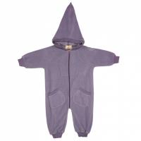 Memini Bunny Fleece-overall Purple