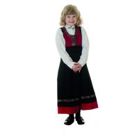 Salto Festdrakt pike rød og sort, komplett med skjorte