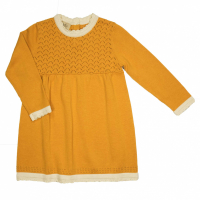 Memini Carla strikket Baby kjole Apricot Yellow