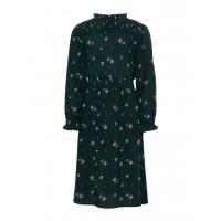 Lucia lang kjole kids blomstret Grønn