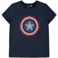 Avengers Logan t-skjorte med flip kids Mørkblå