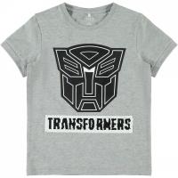 Transformers t-skjorte Kids Flip Grå