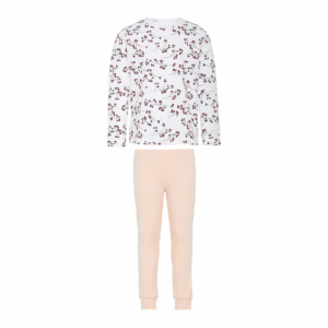 Kids pysj Blomster Bright White