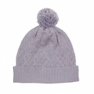 Memini Knit Beanie strikket lue med dusk Lavender Grey
