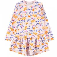 Nini kjole med blomsterprint kids Barely Pink