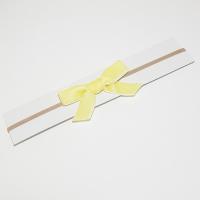 Sløyfehårbånd velour gul