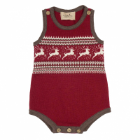Memini Prancer romper Red