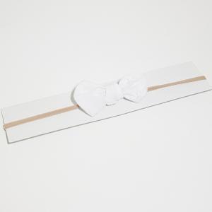 Sløyfehårbånd hvit blonde med prikker