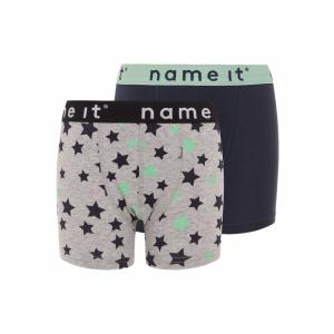Boxer 2pk Grey melange Stars