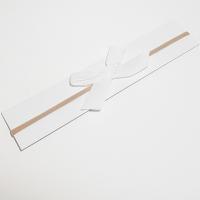 Sløyfehårbånd velour hvit