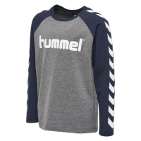 Hummel Boys T-skjorte lang arm Medium Melange