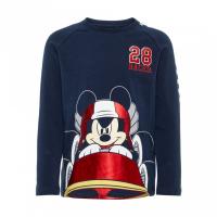 Mickey Janek langermet t-skjorte Mørkblå