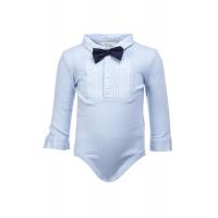 Baby gutt skjortebody med sløyfe Blå