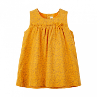Nicole kordfløyelkjole Baby Golden Orange