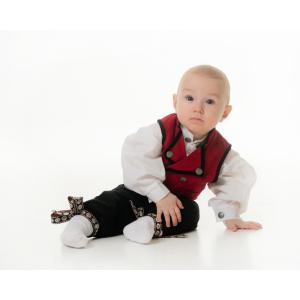 Salto Festdrakt baby gutt rød, komplett med skjorte