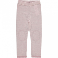 Wang ullegging mini med blonder Rosa