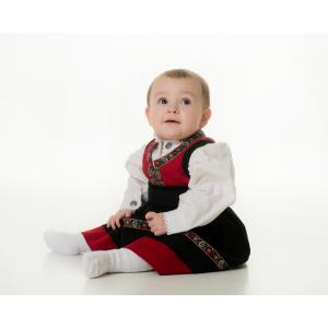 Salto Festdrakt baby pike rød, komplett med skjorte