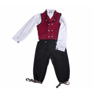 Salto Festdrakt gutt rød, komplett med skjorte