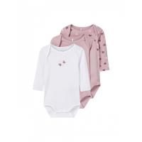 3-pk body baby Dawn Pink