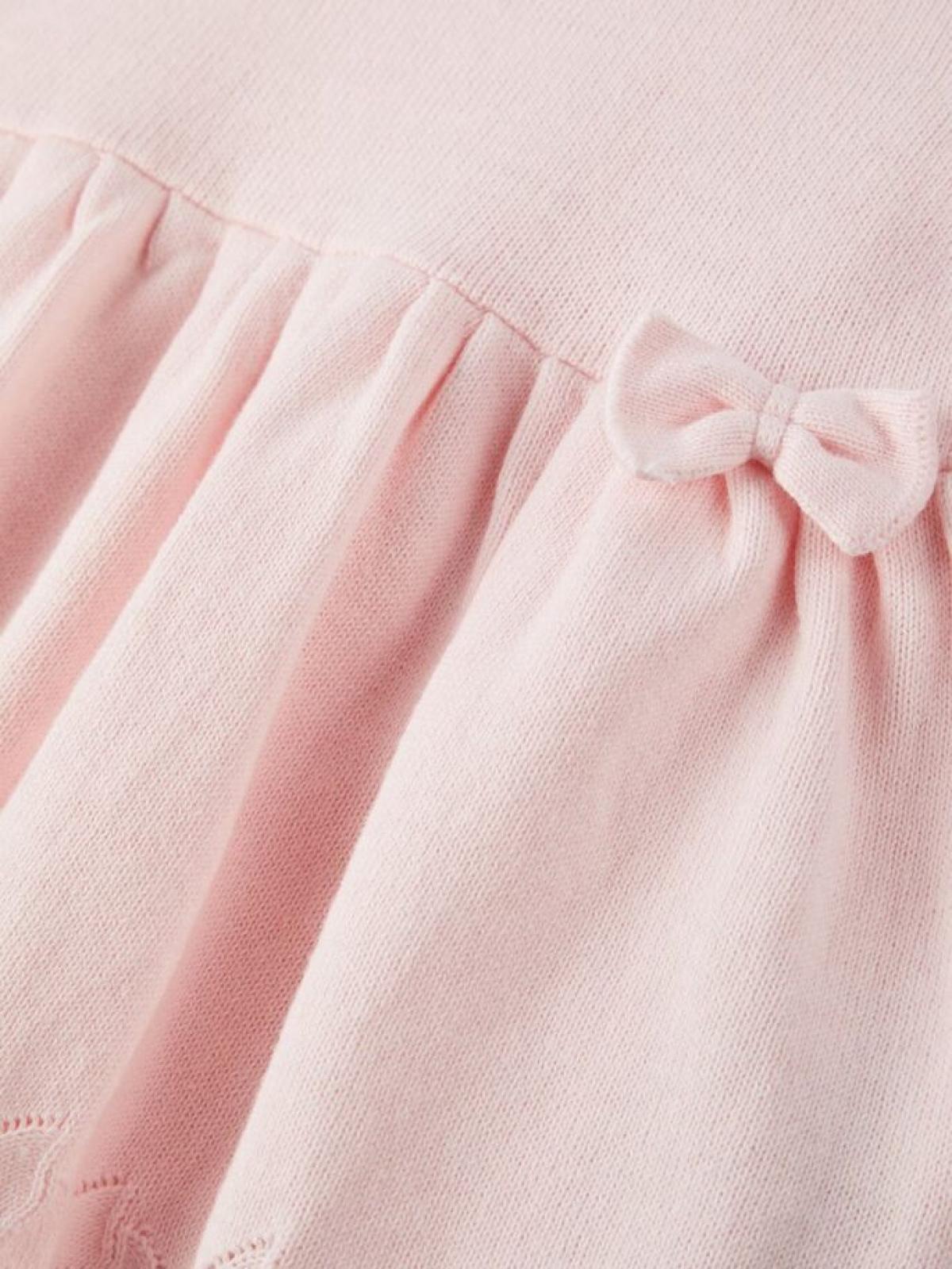 Lael strikket kjole baby rosa Stor og Liten AS