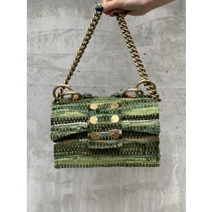 Leather Shoulder Bag - New Yorker Soho Green