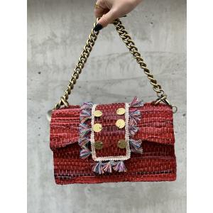 Leather Shoulder Bag - New Yorker Red