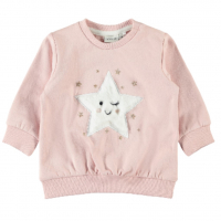 Rita genser med stjerne mini Silver Pink