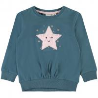Rita genser med stjerne mini Mallard Blue