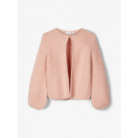 Viva strikket cardigan mini Silver Pink
