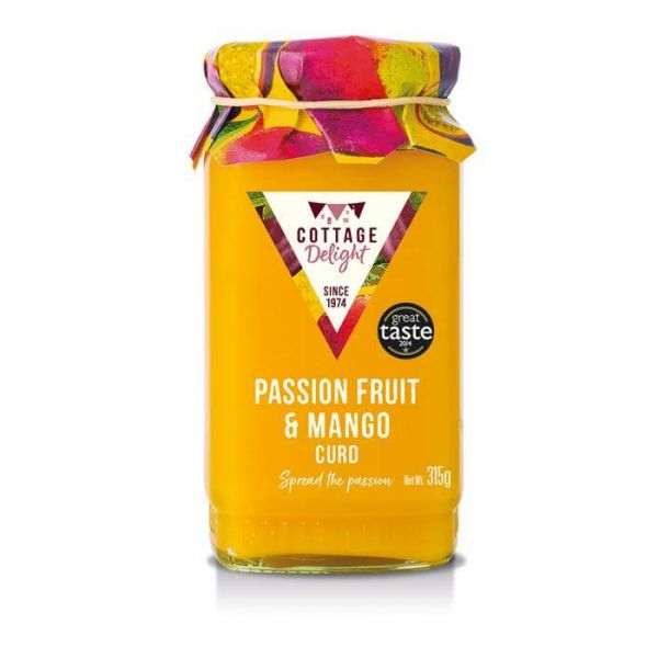Passion fruit & Mango curd