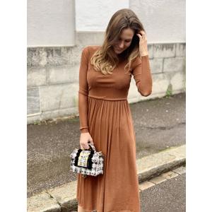 jessa ls lurex midi dress
