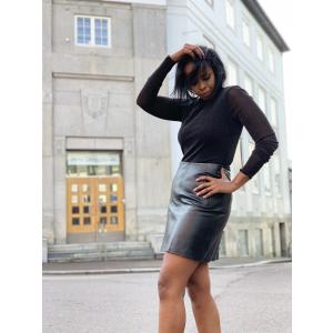 Nini leather skirt