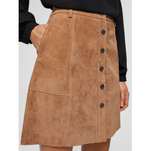 Avi Leather Skirt