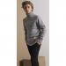 Rogent høyhalset strikkegenser teens Grey Melange