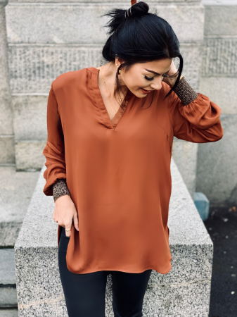 Filine blouse -tortoise shell