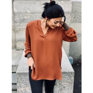 Filine blouse -tortoise shell