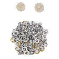 Metall jersey trykknapp hvit ring