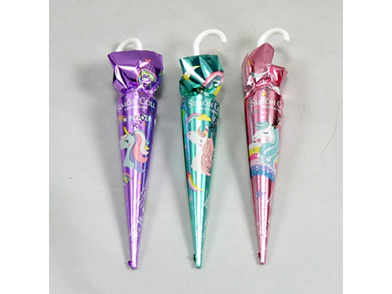 Enhjørningsparaplyer-lys sjokolade