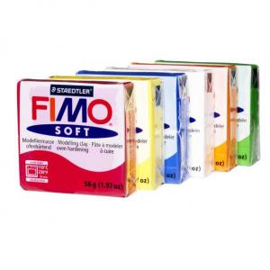 Sett Fimo soft 56 g 6 farger