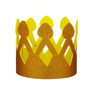 Gullglitrende krone
