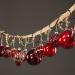 Julekule rød oval