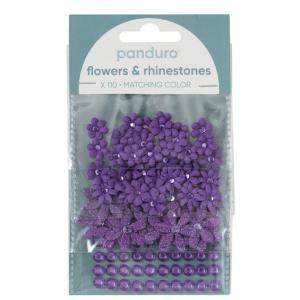 Blomster & Rh.stones 110 Lilla