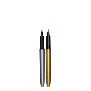 Brush Markers Gull/sølv 2 stk