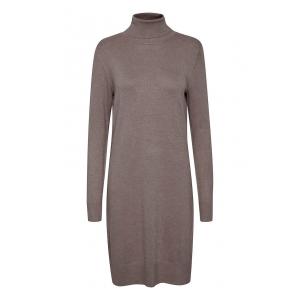 Knit Dress L/S High Neck