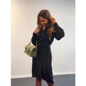 Alva ls wrap dress - Black